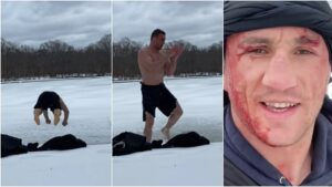 UFC star Merab Dvalishvili BUSTED OPEN after dive into frozen lake goes badly wrong (VIDEO) — RT Sport News