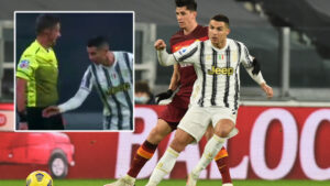 Watch out, ref: Cristiano Ronaldo bags for Juventus against Roma