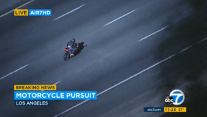 LIVE: Cops Chase Motorcyclist Going Well Over 130 MPH In SoCal