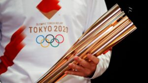 Tokyo Olympic torch relay: Masks, quiet cheering and caution