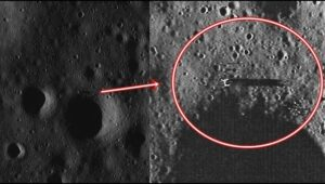 Lunar Reconnaissance Orbiter takes a picture of an extraterrestrial spacecraft on the moon