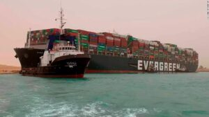 Suez Canal: Dislodging Ever Given container ship blocking waterway could take'days to weeks'