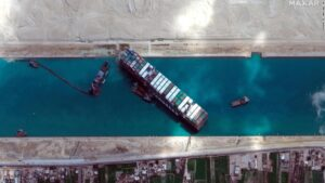 Ever Given ship partially dislodged as refloat efforts underway in Suez Canal