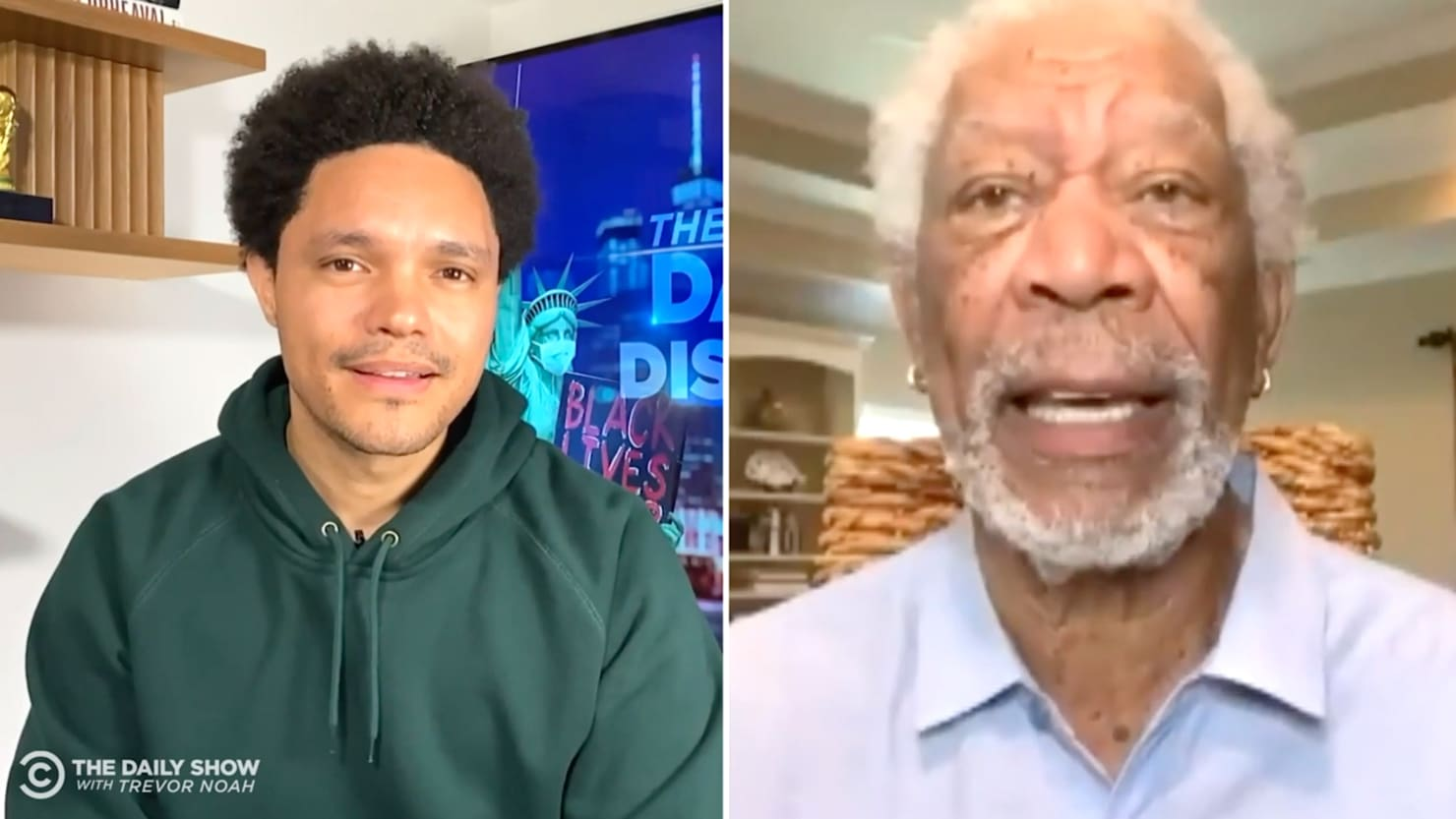 Morgan Freeman Rips Anti-Vaxxers on'Daily Show,' Urges'Get the Freaking Shots!'