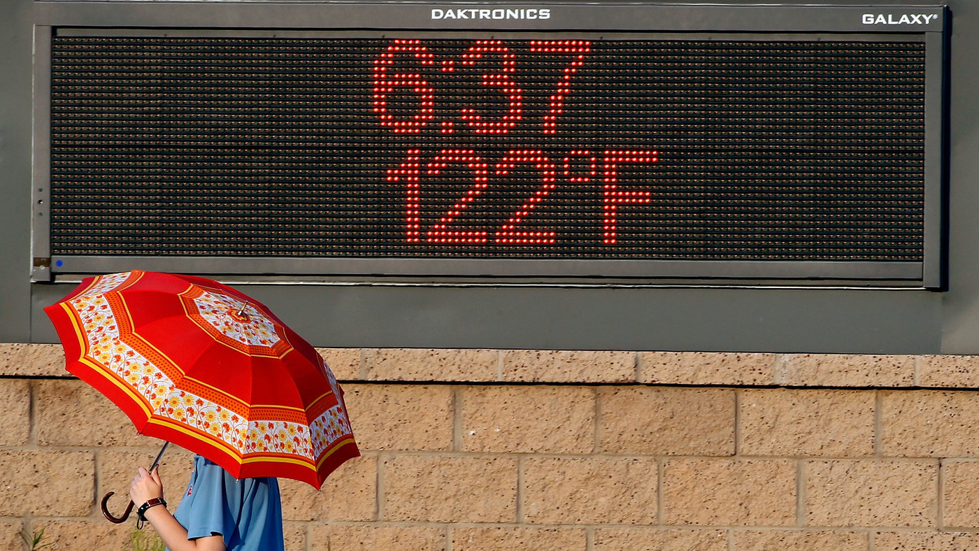 Climate Change Makes A Hotter Normal For Weather Forecasters: NPR