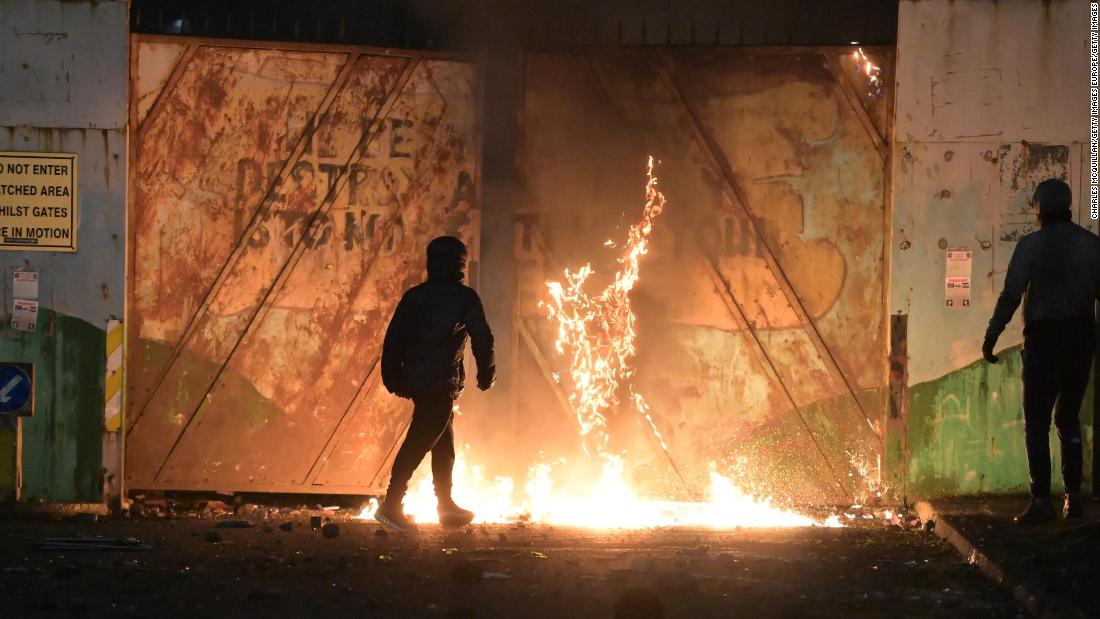 Northern Ireland riots: Bus torched in more Belfast violence as British and Irish leaders call for calm
