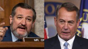 Ted Cruz mocks John Boehner's'drunken, bloviated scorn'