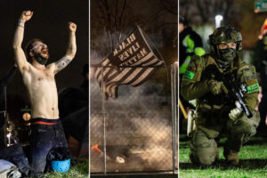 Protesters and cops clash after Daunte Wright killing
