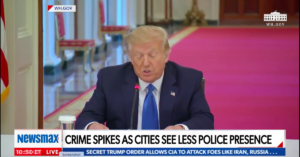 Violent crime rates are up. Newsmax and OANN viewers are most likely to say so.