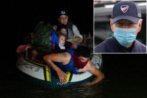 Biden finally calls migrant surge a'crisis' as he explains refugee cap cave