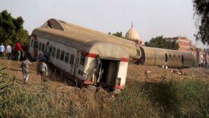 Passenger train derailment in Egypt causes dozens of casualties