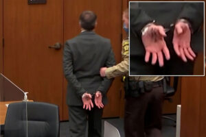 Here's what Derek Chauvin wrote on his hand ahead of murder conviction