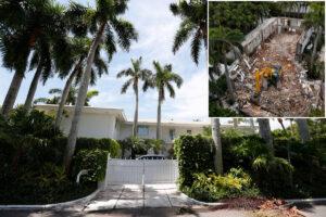 Jeffrey Epstein's Palm Beach estate has been demolished