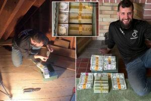Treasure hunter finds $46K hidden in Massachusetts home: report