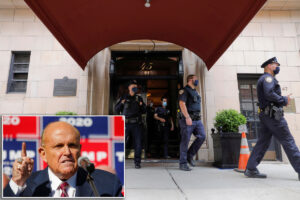 Unscathed Rudy Giuliani calls feds'bullies' after NYC raid