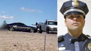 New Mexico police officer gets up, fires back after shot by accused cop killer, video shows