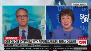 Susan Collins Refuses to Tell Jake Tapper Who She Voted for in 2020:'Nice Try, Jake!'