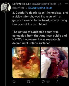 What really happened to Muammar Gaddafi (?)