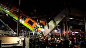 At least 23 dead, dozens more injured after Mexico City Metro overpass collapses onto road