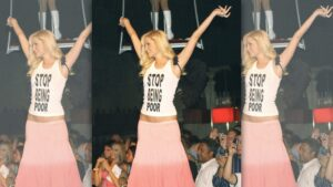 Artist Reveals Paris Hilton's Infamous'Stop Being Poor' Tank Was Fake