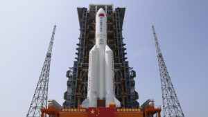 Chinese Rocket Plunging Toward Earth Expected To Land This Weekend: NPR