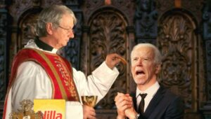 Compromise: In Lieu Of Eucharist, Priest To Offer Biden Non-Blessed But Delicious Vanilla Wafer
